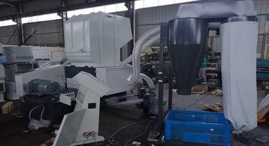 AMG-800H Plastic Crusher with blower & cyclone system